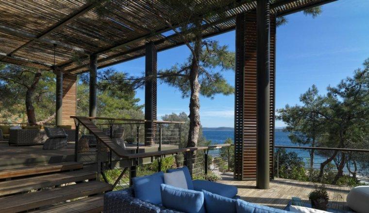 Las terrazas cubiertas permiten disfrutar de las impresionantes vistas