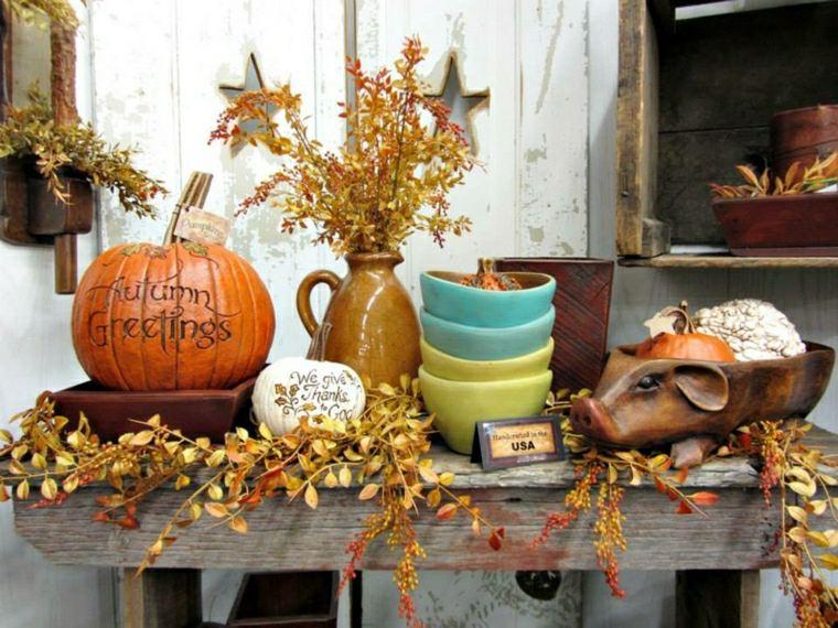 Decoración y accesorios de temática de otoño