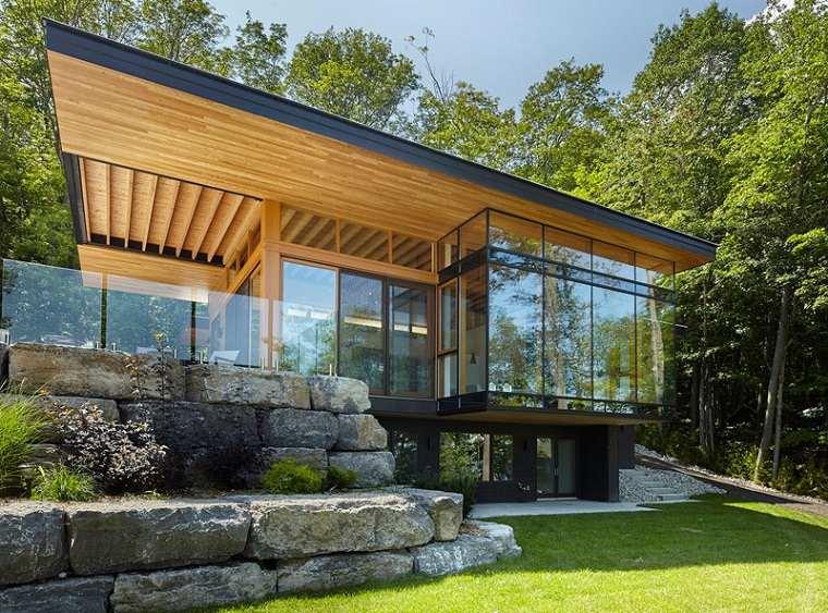 cabañas de madera modernas diferentes