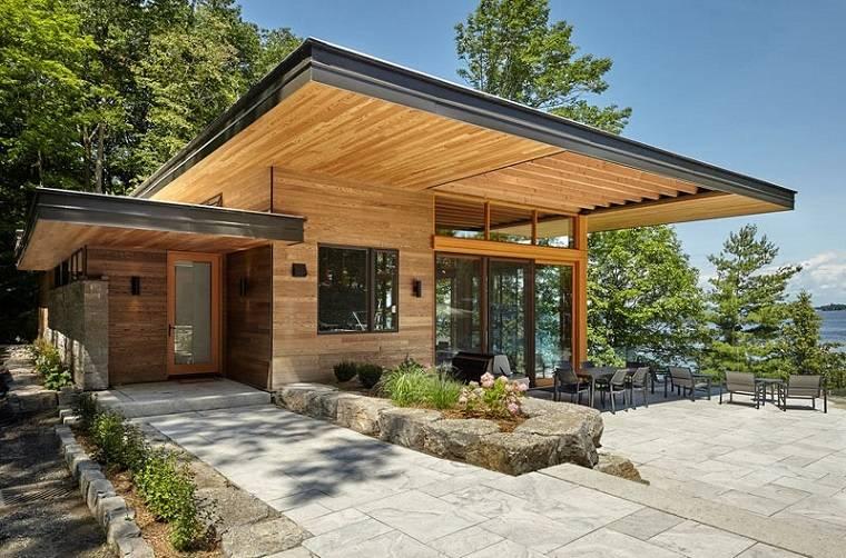 cabañas de madera vistas increibles