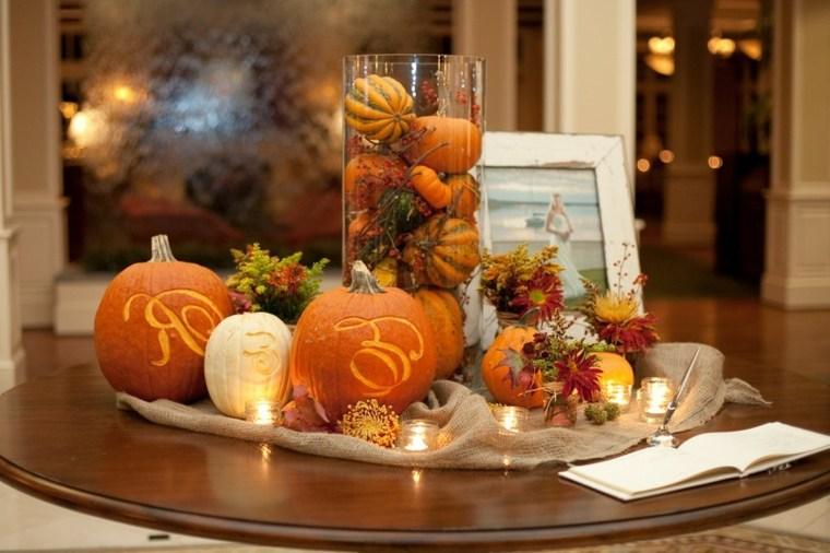 centro decoración de otoño