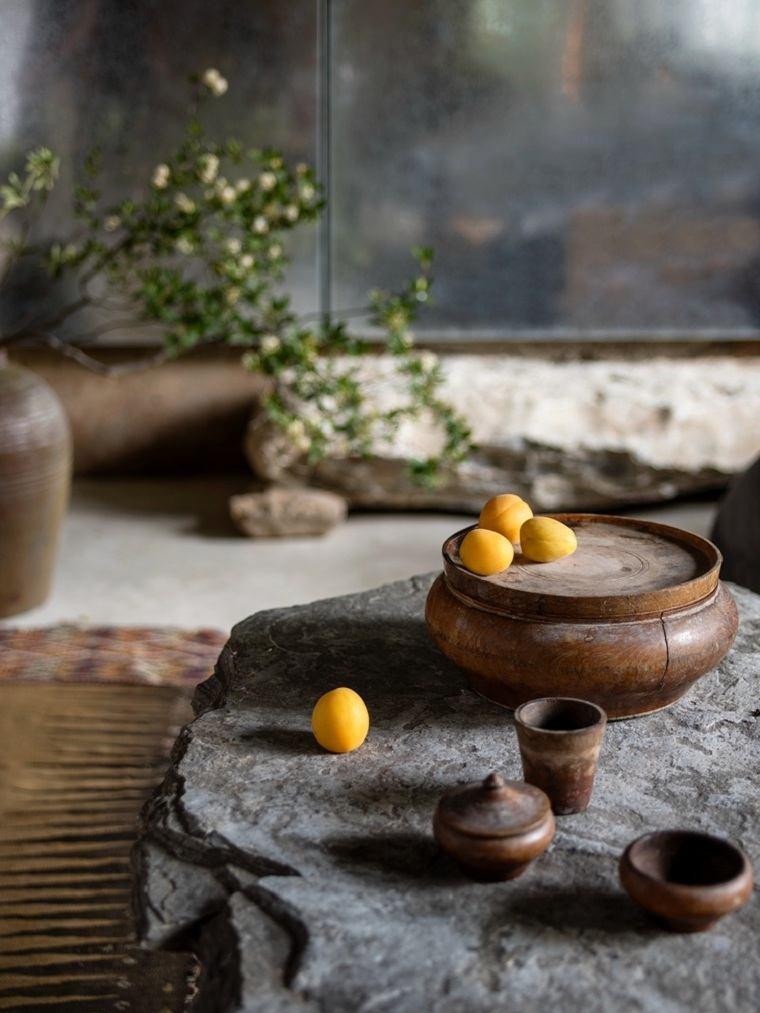 casas-rurales-china-platos-madera