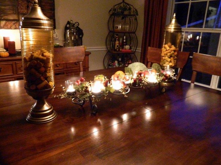 centro mesa decoración de otoño