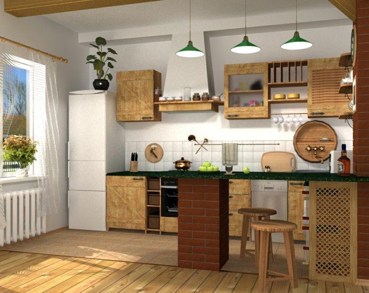 cocina americana-decoracion-madera