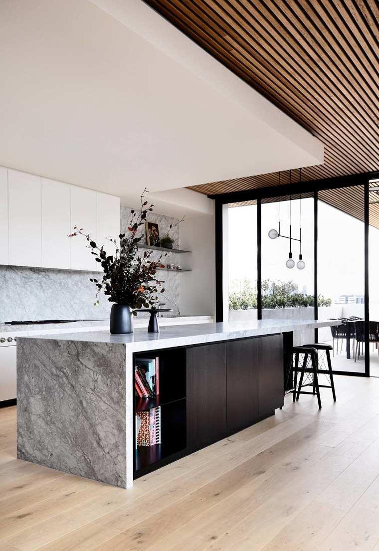 cocinas modernas con isla-diseno-tom-robertson-architectsaustralia