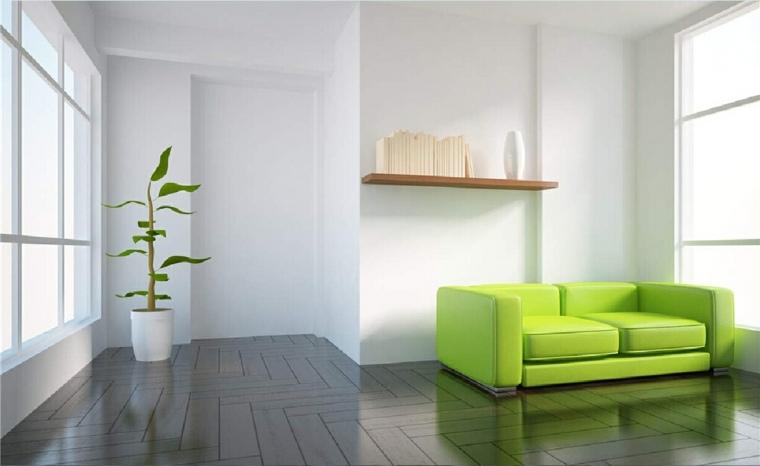 colores que combinan con verde-salon
