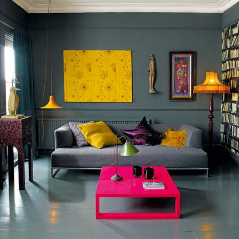 combinaciones de colores amarillo-y-gris