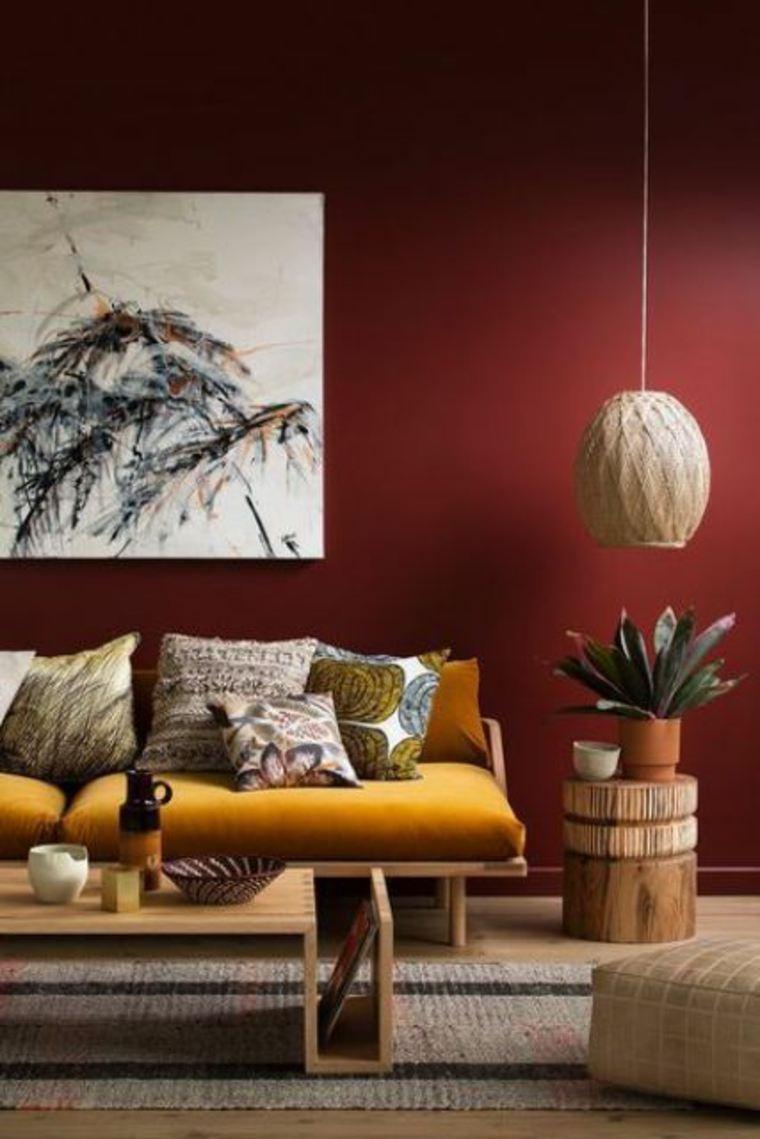 combinaciones de colores burdeos-y-mostaza