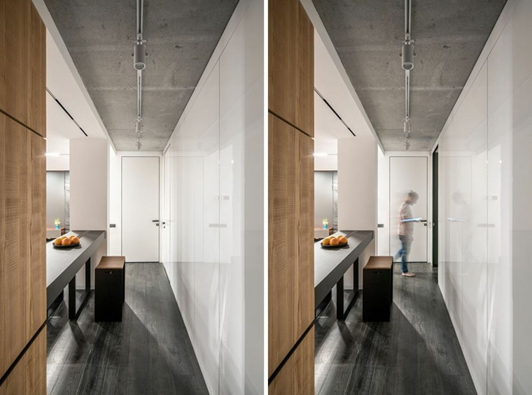 contraste-cemento-madera-pasillo