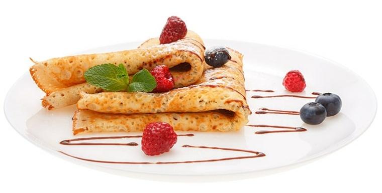 tortitas desayudo frutas
