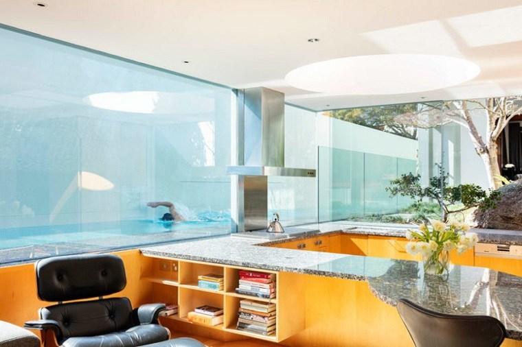 cristal madera muebles almacenamiento