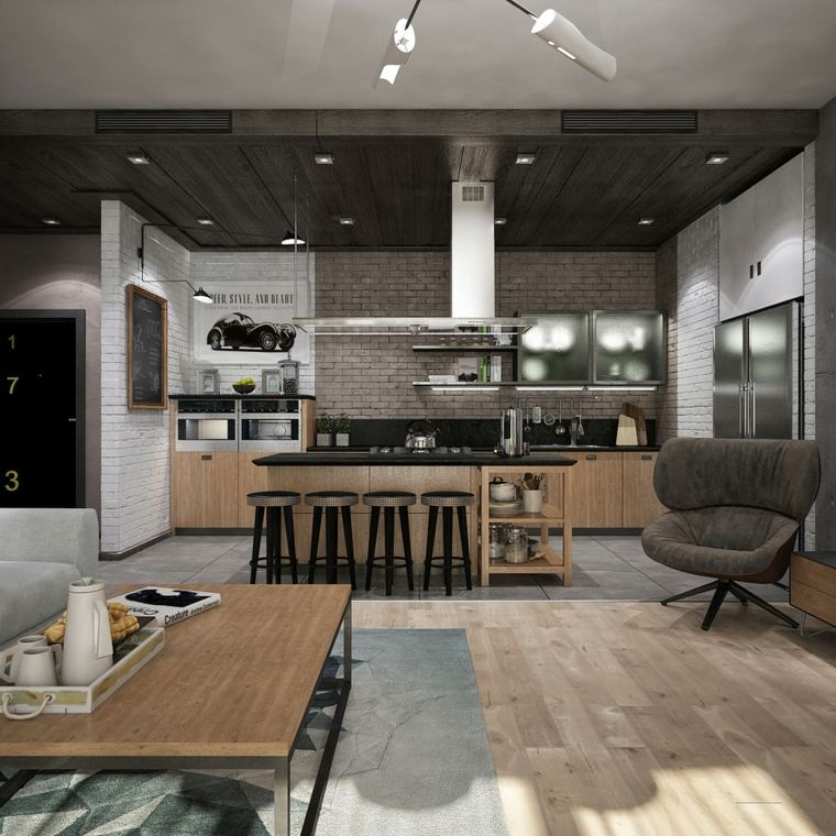 decoracion cocina-americana-moderna