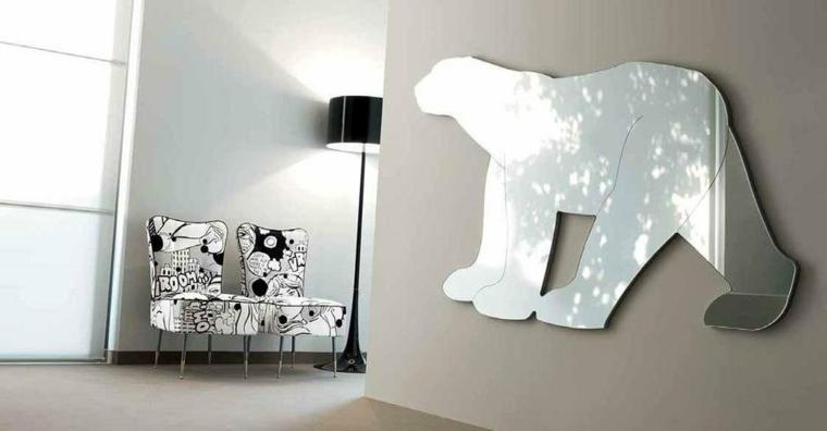 decoracion con espejos-formas