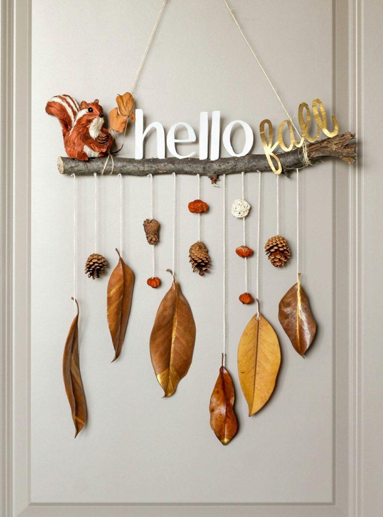 decoracion con hojas secas-interior