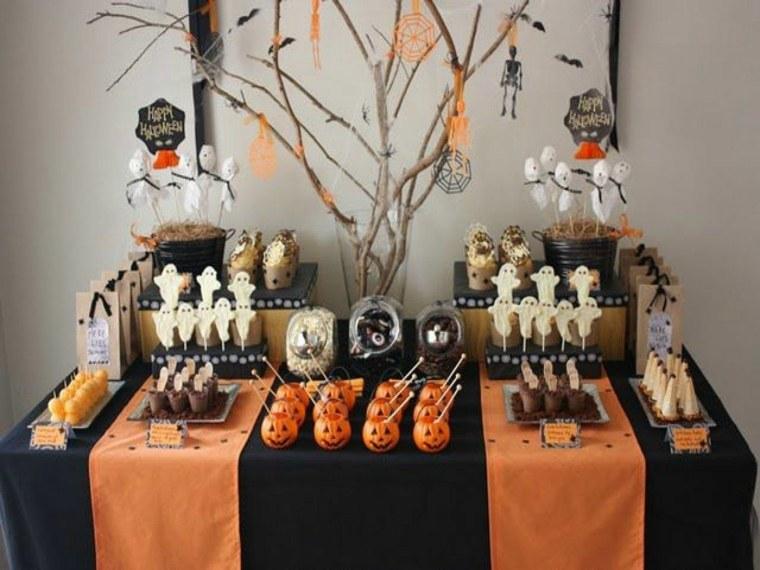 decoracion de halloween-mesa-comida