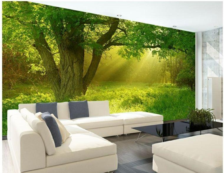 decoracion de interiores-paisaje-verde