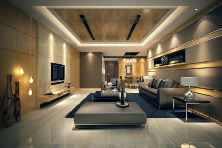decoracion de salas modernas-luces