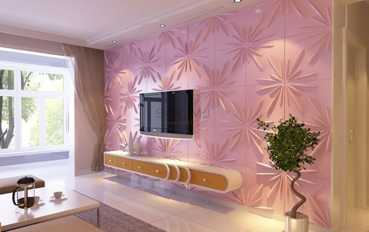 decoracion de salas-modernas-rosa