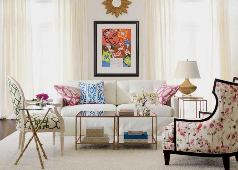 decoracion de salas pequenas-colores-claros