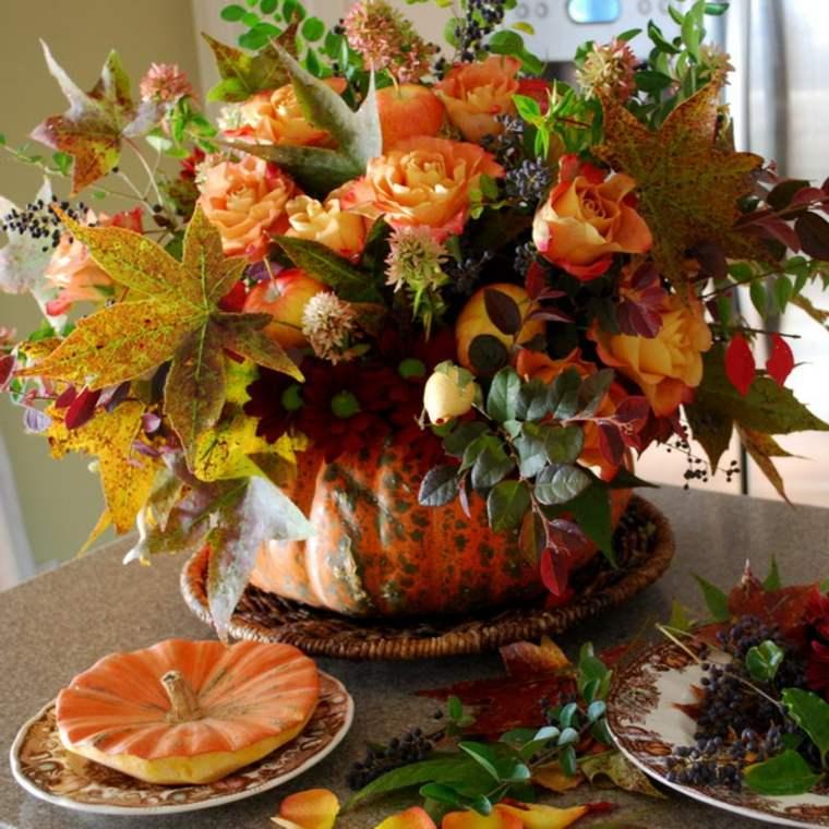 decoracion interior-calabaza-mesa-otono