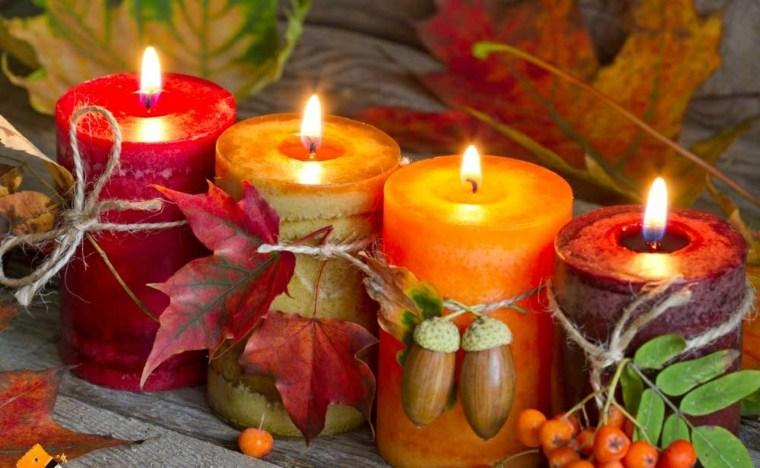 decoracion interior-mesa-velas-otono