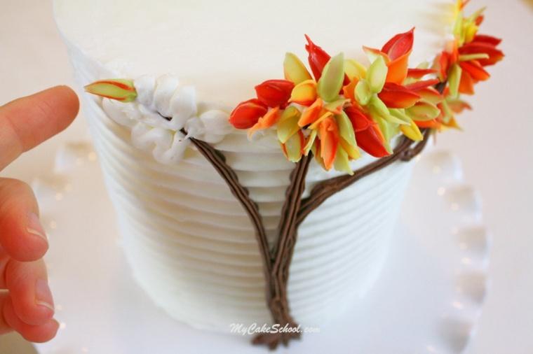 decoracion otono hojas-secas-vasos