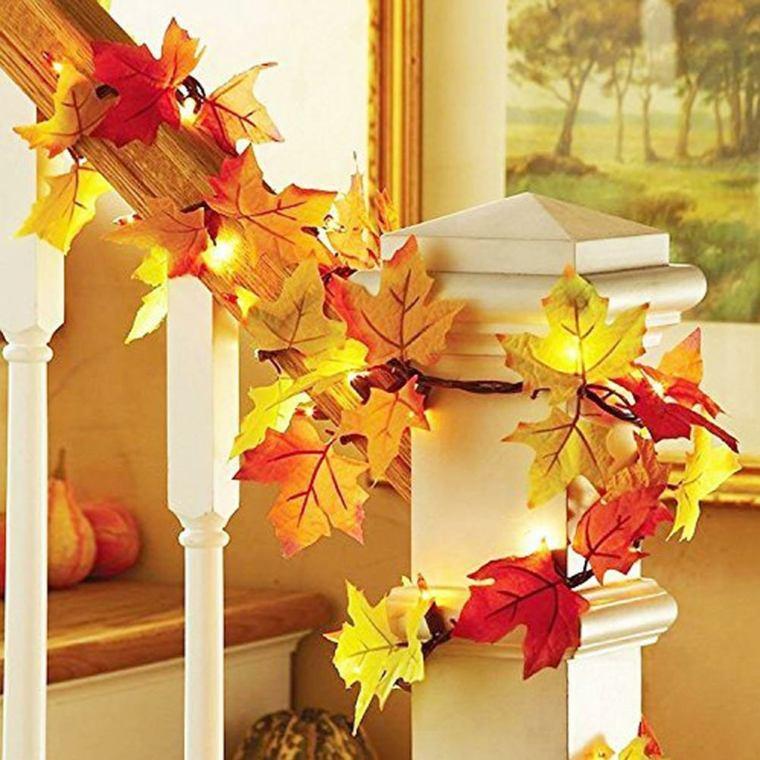 decoracion otono infantil-escalera
