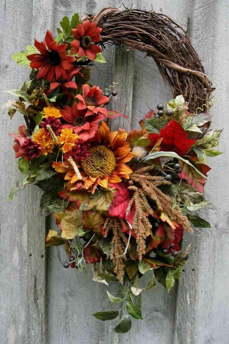 decorar hojas de otono-coronas