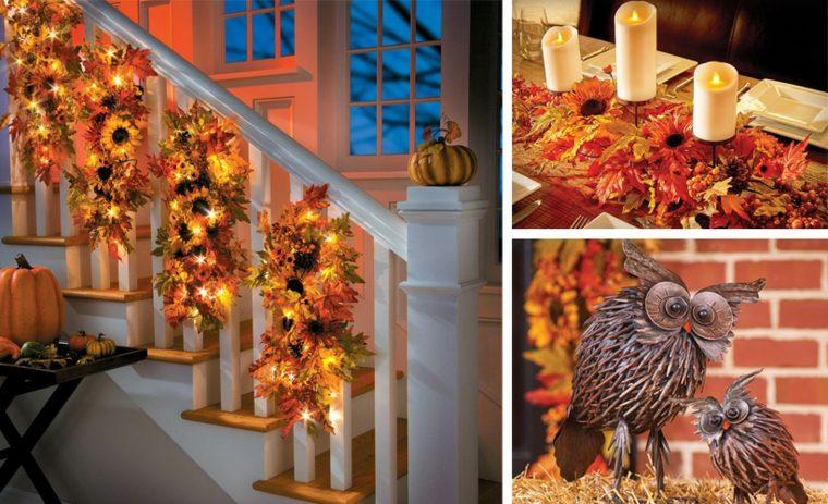 decorar hojas de otono-interior