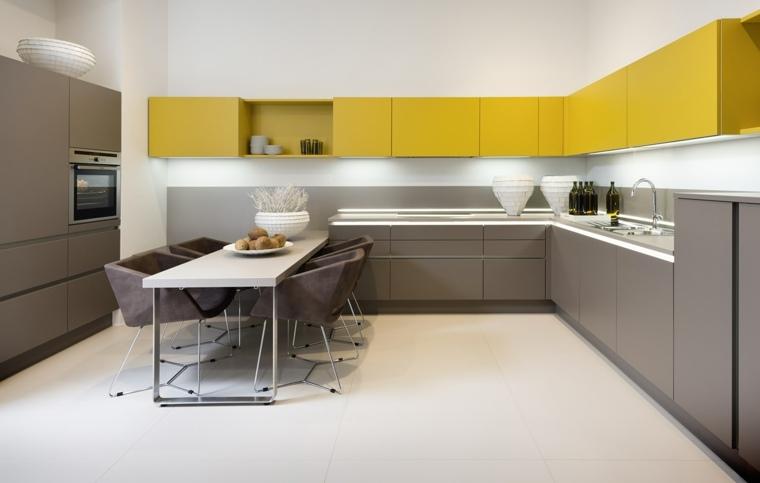 decorar salon con cocina-americana-moderna