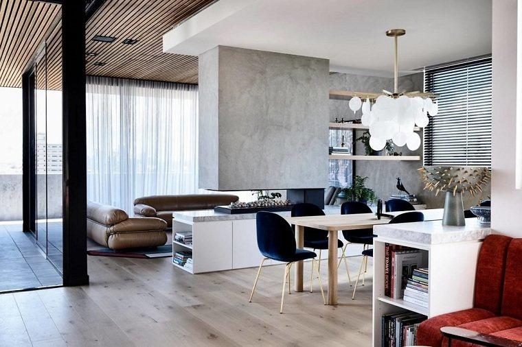 Diseño de interiores salas de plano abierto impresionantes