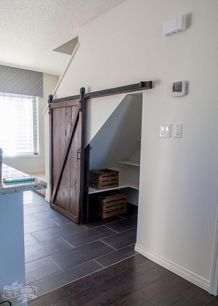 puerta deslizante de madera