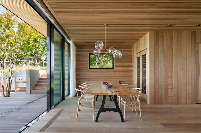 disenos-de-casas-modernas-opciones-comedor-mesa-madera
