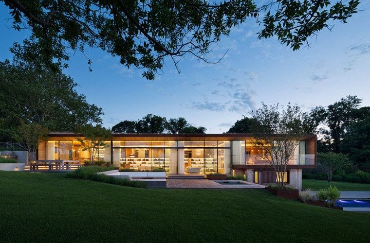 disenos-de-casas-modernas-opciones-jardin-trasero-piscina