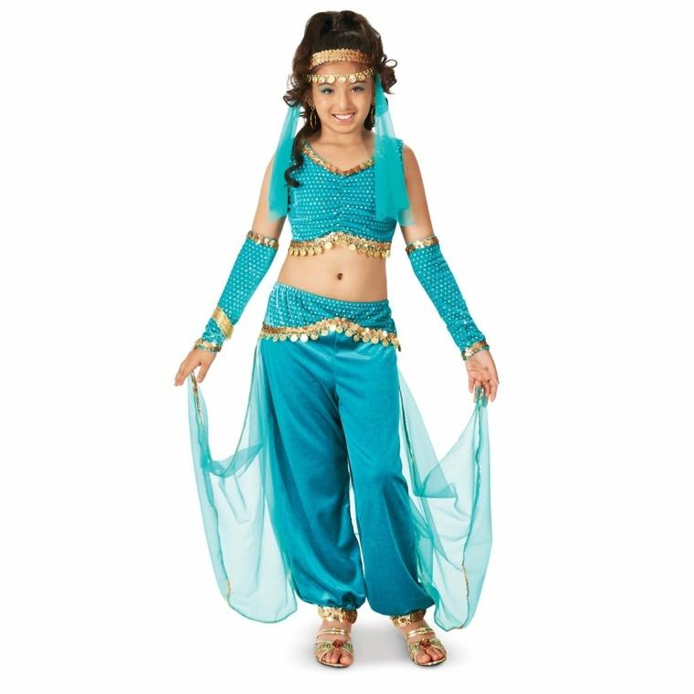 disfraces infantiles de halloween-bailarina-arabe