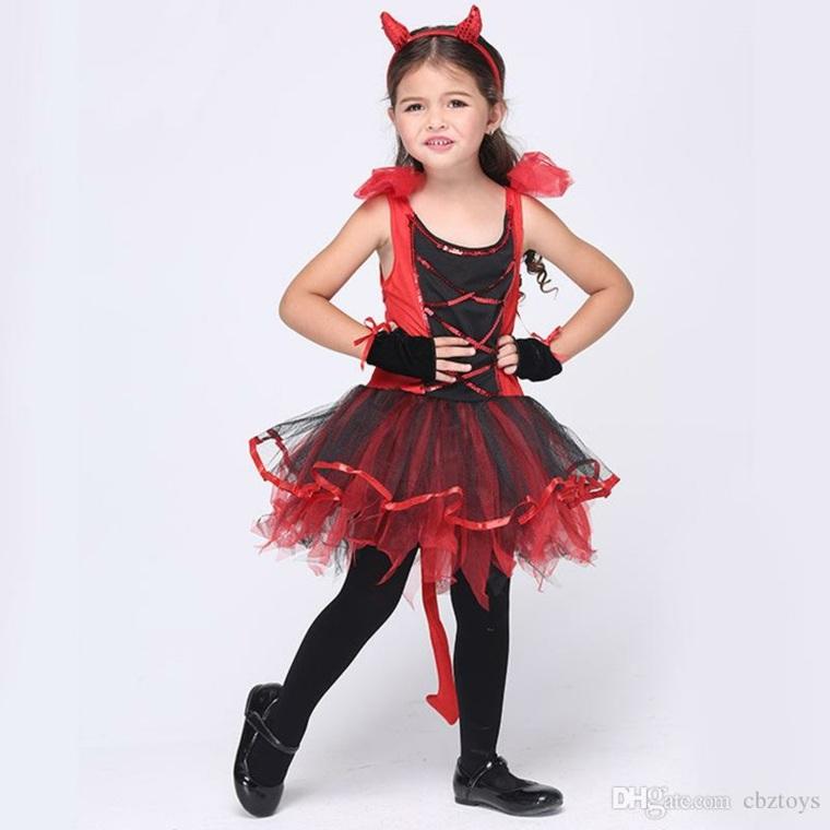 disfraces infantiles halloween-diabla