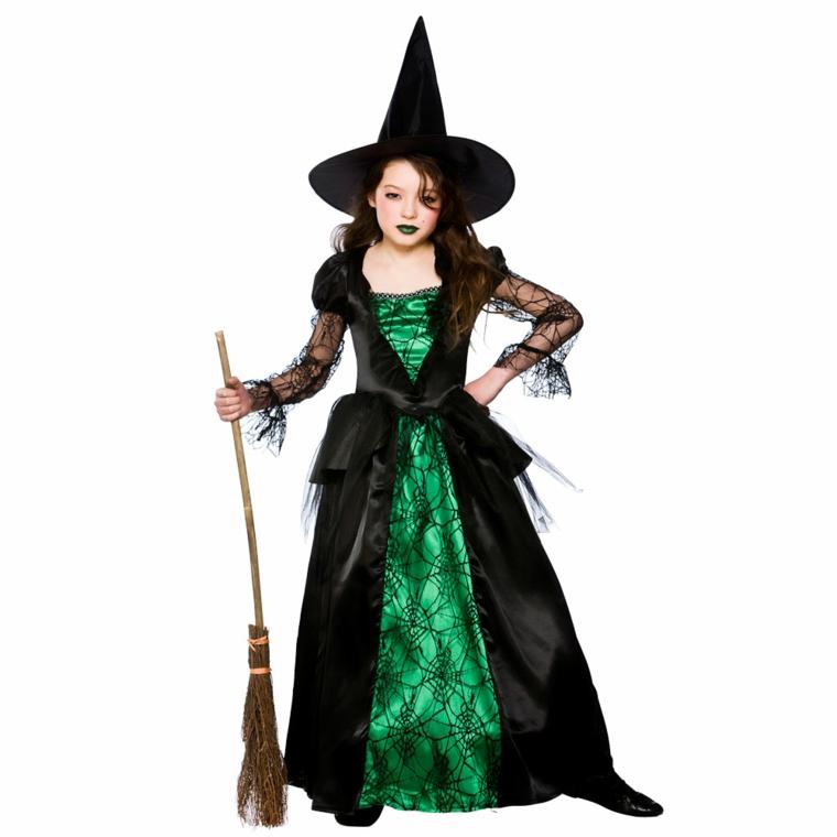 disfraces para ninas-halloween-bruja