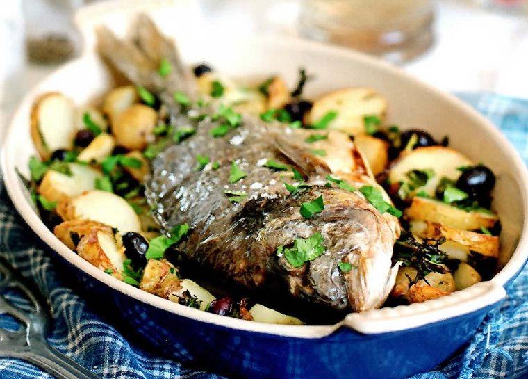 dorada al horno-cocina-ideas-patatas