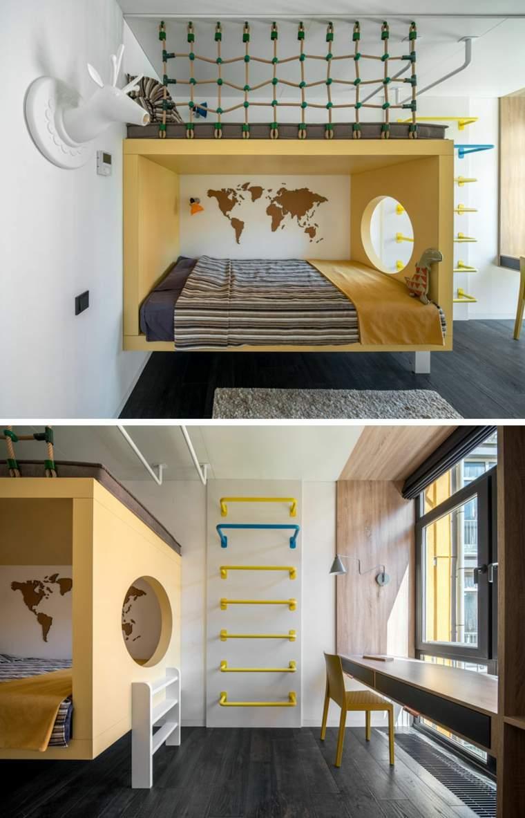 escaladores-cama-doble-paredes-madera