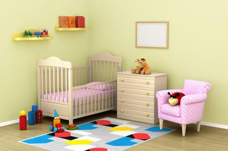habitación-de-bebé-alfombra