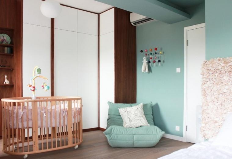 habitación-de-bebé-estilo-retro