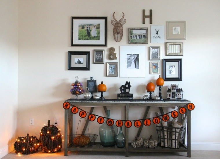 Halloween ideas originales para decorar el recibidor y la entrada de su casa