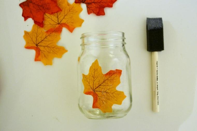 hojas de otono para decorar-casa