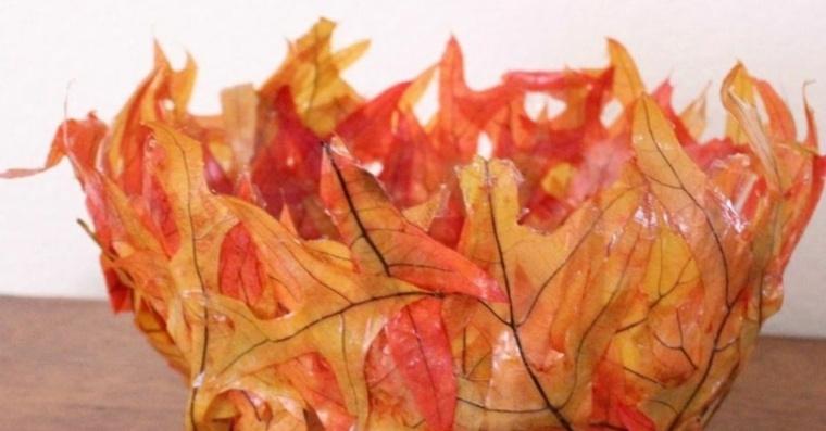hojas de otono para decorar-circulo
