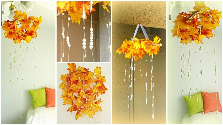 hojas de otono para decorar-interior