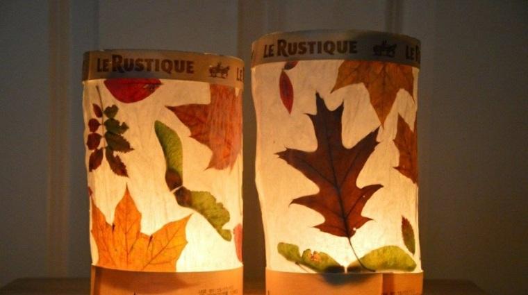 hojas de otono para decorar-interiores