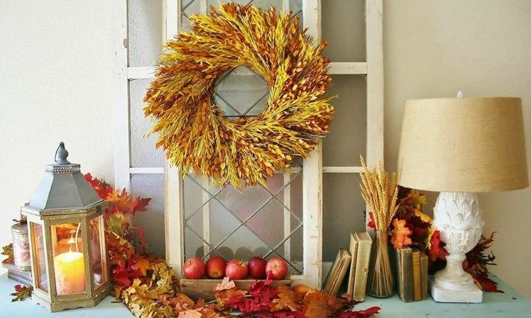 hojas de otono para decorar-muebles