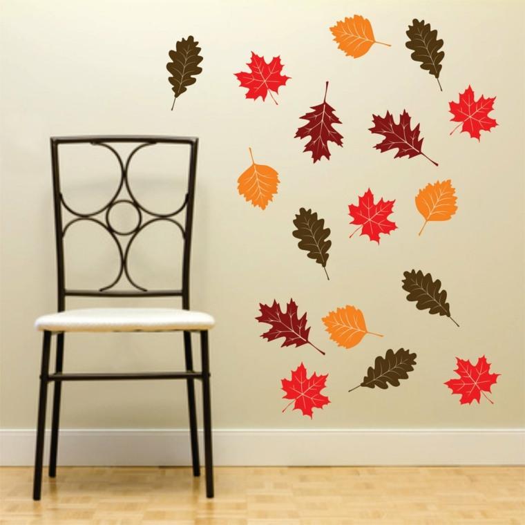 hojas de otono para decorar-pared