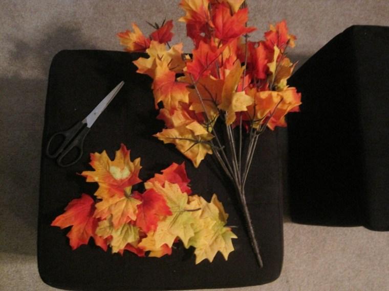 hojas de otono para decorar-paredes