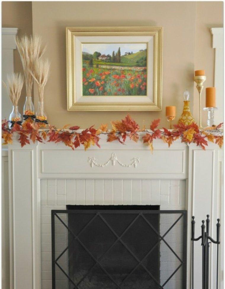 Decoración elegante y clásica para el otoño